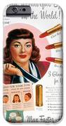 MAX FACTOR LIPSTICK AD iPhone Case by Granger