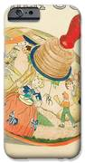 Mother Goose Spinning Top iPhone Case by Glenda Zuckerman