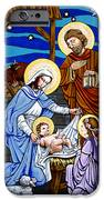 Nativity at Valley Ranch iPhone Case by Joan Garcia