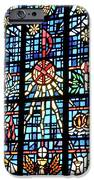 Orange Blue Stained Glass Window iPhone Case by Thomas Woolworth