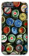 Pile of Beer Bottle Caps . 9 to 12 Proportion iPhone Case by Wingsdomain Art and Photography