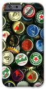 Pile of Beer Bottle Caps . 9 to 16 Proportion iPhone Case by Wingsdomain Art and Photography
