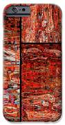 Red Splashes Swishes and Swirls - Abstract Art iPhone Case by Carol Groenen