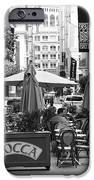 San Francisco - Maiden Lane - Outdoor Lunch at Mocca Cafe - 5D17932 - black and white iPhone Case by Wingsdomain Art and Photography