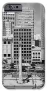San Francisco - Union Square - 5D17938 - black and white iPhone Case by Wingsdomain Art and Photography