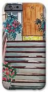 Stairs Sketchbook Project Down My Street iPhone Case by Irina Sztukowski
