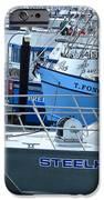 Steelhead and Fishing Boats iPhone Case by Jeff Lowe
