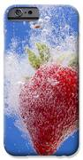 Strawberry Soda Dunk 1 iPhone Case by John Brueske