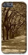 The Old South Series in sepia iPhone Case by Suzanne Gaff