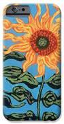 Three Sunflowers III iPhone Case by Genevieve Esson