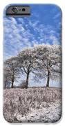 Trees in the Snow iPhone Case by John Farnan