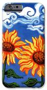 Two Sunflowers iPhone Case by Genevieve Esson