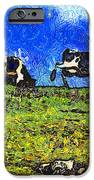 Van Gogh Goes Cow Tipping 7D3290 iPhone Case by Wingsdomain Art and Photography
