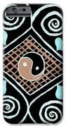 Yin Yang Swirls on Black iPhone Case by Jeannie Atwater Jordan Allen