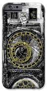 BW Prague The Horologue at OldTownHall iPhone Case by Yuriy  Shevchuk