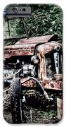 Abandoned Tractor iPhone Case by Gert Lavsen
