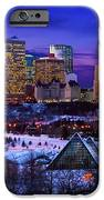 Edmonton Winter Skyline iPhone Case by Corey Hochachka