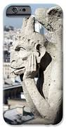 Gargoyle guarding the Notre Dame Basilica in Paris iPhone Case by Pierre Leclerc Photography