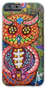 OWL DAY OF THE DEAD iPhone Case by PRISTINE CARTERA TURKUS