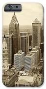 Aerial View Philadelphia Skyline Wth City Hall iPhone Case by JACK PAOLINI