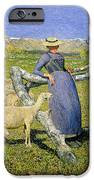 Afternoon in the Alps iPhone Case by Giovanni Segantini