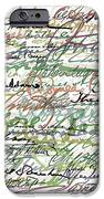 All The Presidents Signatures Green Sepia iPhone Case by Tony Rubino