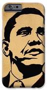 Barack Obama original coffee painting iPhone Case by Georgeta  Blanaru