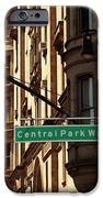 Central Park West iPhone Case by Madeline Ellis