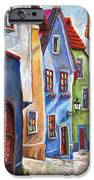 Cesky Krumlov Old Street iPhone Case by Yuriy  Shevchuk