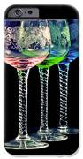 Colorful wine glasses iPhone Case by Gert Lavsen