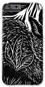 Cottontail block print iPhone Case by Ellen Miffitt