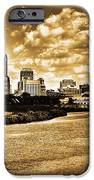 Downtown Indianapolis Skyline Dark Toned iPhone Case by David Haskett