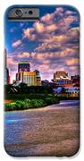 downtown indianapolis skyline iPhone Case by David Haskett