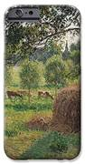Dusk at Eragny iPhone Case by Camille Pissarro