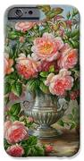English Elegance Roses in a Silver Vase iPhone Case by Albert Williams