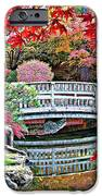 Fall Bridge in Manito Park iPhone Case by Carol Groenen