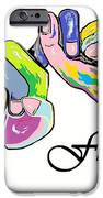 FRIENDS . . . An American Sign Language Painting iPhone Case by Eloise Schneider