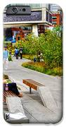 Girl Uninterrupted on the High Line iPhone Case by Randy Aveille