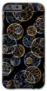 Gold And Blue Abstract Circles iPhone Case by Frank Tschakert
