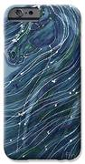 Green Horse with Flying Mane iPhone Case by Carol  Law Conklin