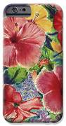 Hibiscus Impressions iPhone Case by Patti Bruce - Printscapes