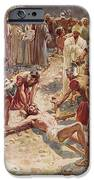 Jesus being crucified iPhone Case by William Brassey Hole