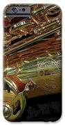 Jupiter Saxophone iPhone Case by Michelle Calkins