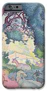 Landscape with Goats iPhone Case by Henri-Edmond Cross
