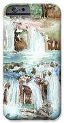 Many Waterfalls iPhone Case by Arline Wagner