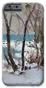Naked Trees by the Lake Shore iPhone Case by Ylli Haruni