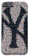 New York Yankees Bottle Cap Mosaic iPhone Case by Paul Van Scott
