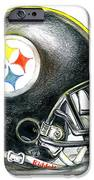 Pittsburgh Steelers Helmet iPhone Case by James Sayer