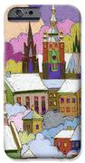 Prague Old Roofs Prague Castle Winter iPhone Case by Yuriy  Shevchuk