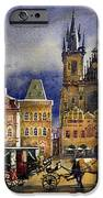 Prague Old Town Squere After rain iPhone Case by Yuriy  Shevchuk